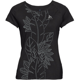 Odlo BL Concord SS Top Crew Neck Women black-flower leaf print SS19